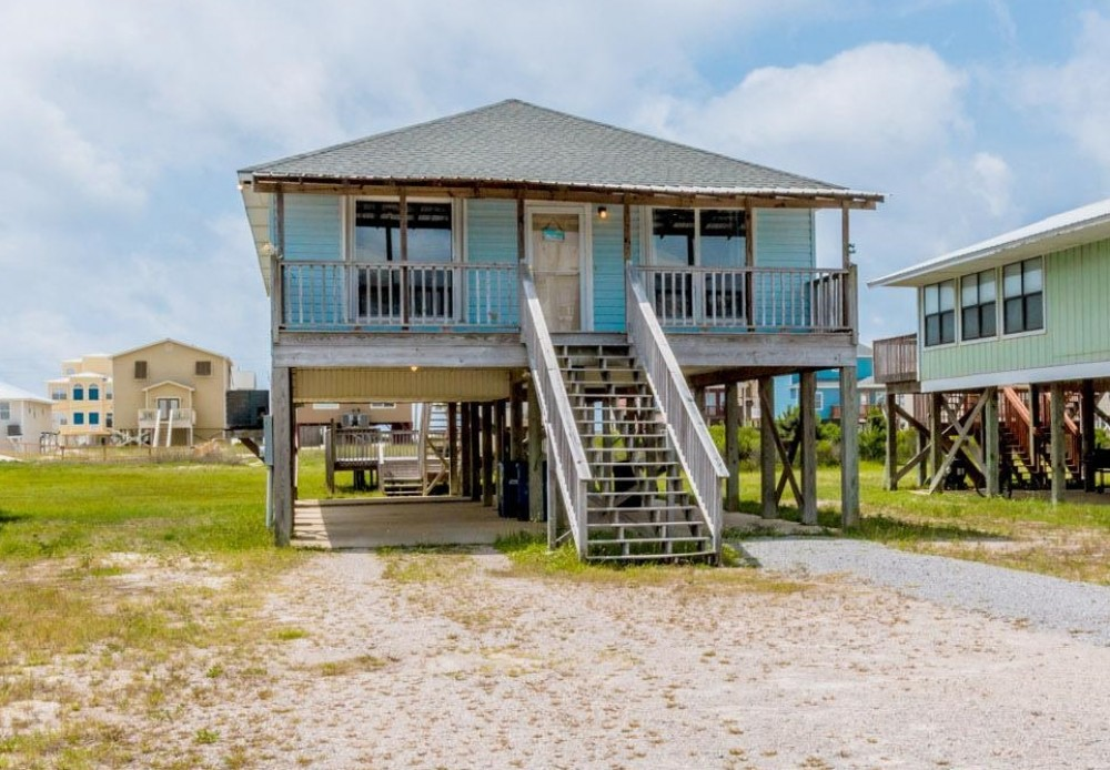 Gulf Shores vacation rental with  Between Beaches   located between the Gulf of Mexico and Little Lagoon