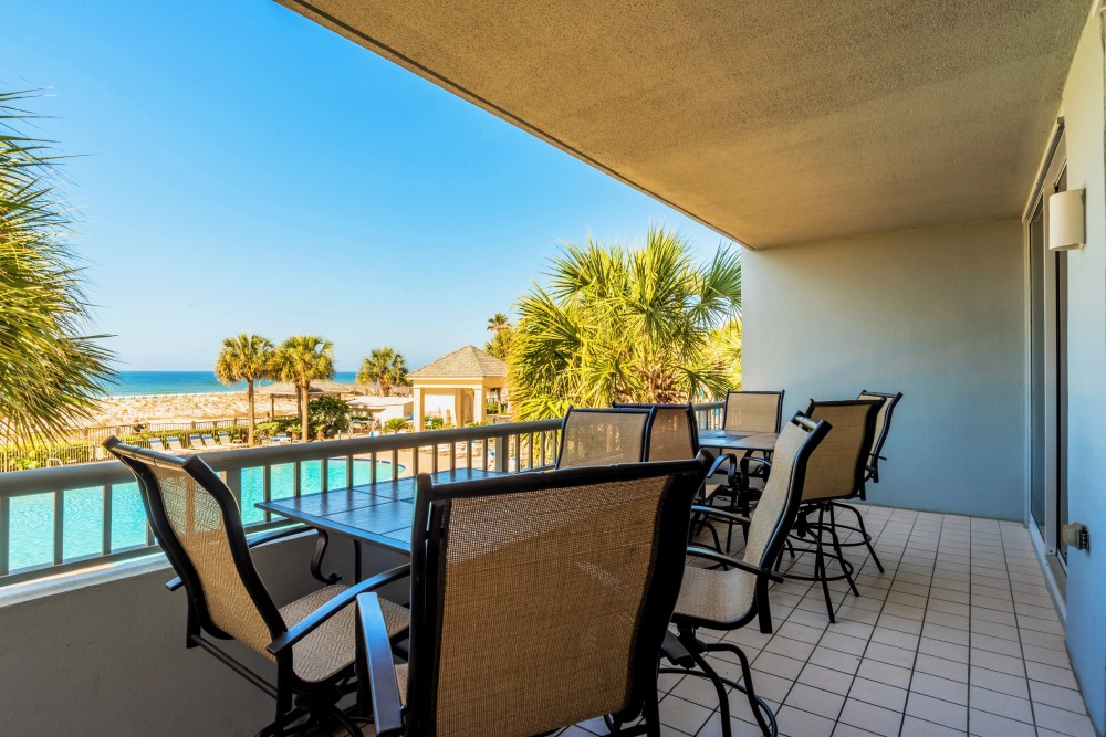 Gulf Shores vacation rental with Morning Coffee with a Gorgeous View