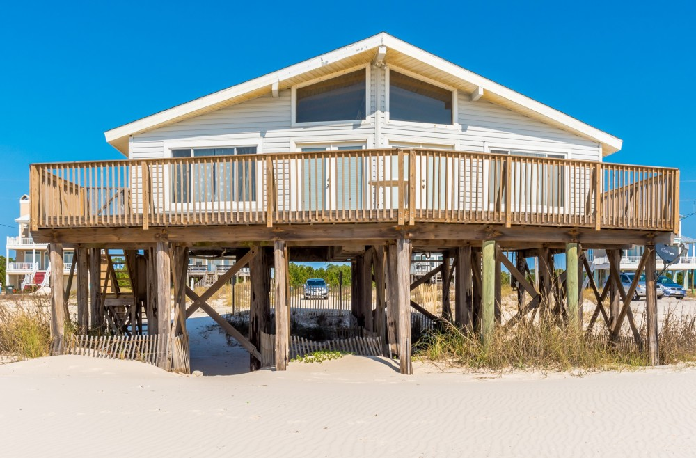 Gulf Shores vacation rental with Beach Front Quaint Cottage