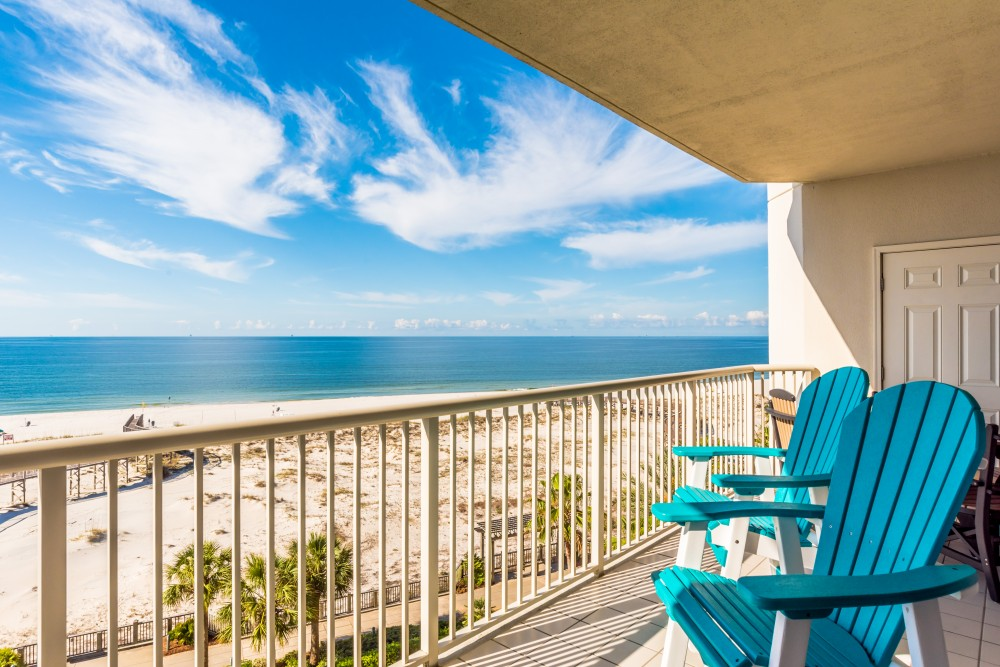 Gulf Shores vacation rental with Private Balcony with Beachfront View