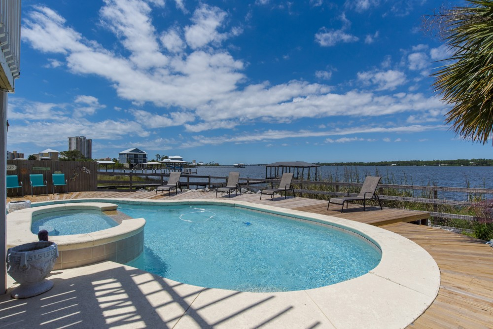 Gulf Shores vacation rental with Private Pool  small pool is a kiddie pool  not a hot tub