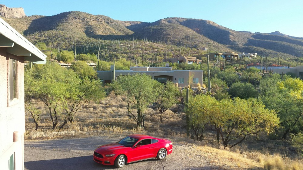 Tucson vacation rental with View to Rear  Catalina Mtns
