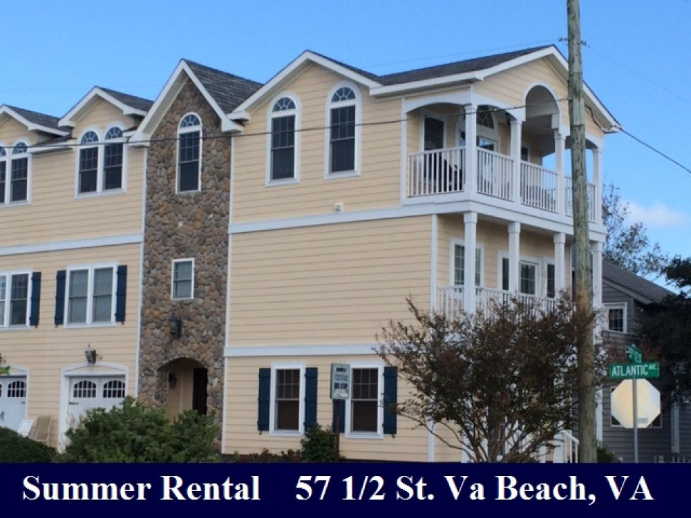 Virginia Beach vacation rental with View of Home at Intersection of Atlantic Avenue and 57 1/2 Street