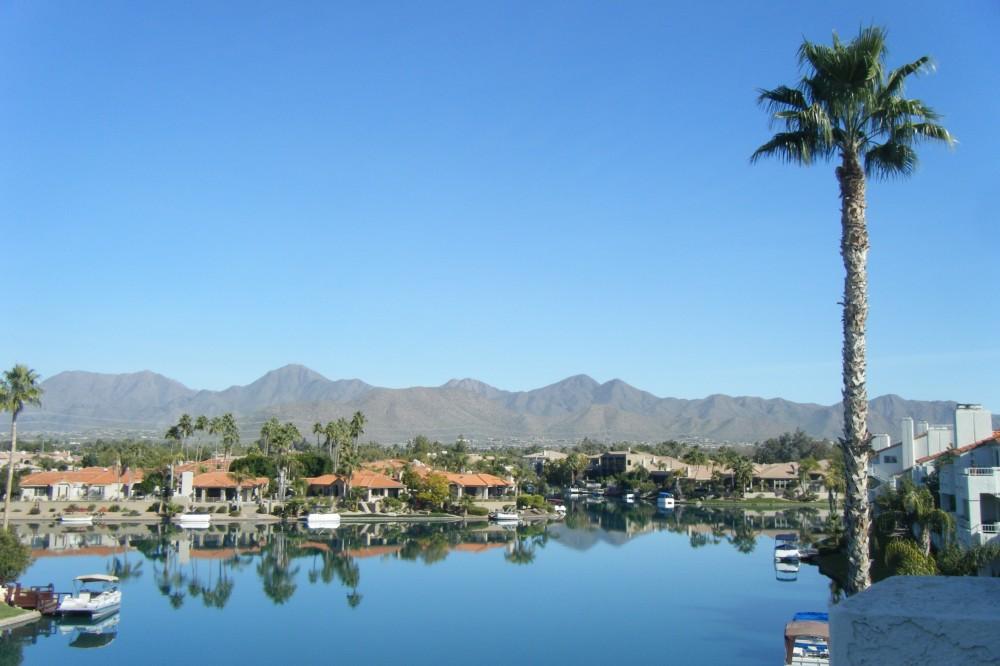 Scottsdale vacation rental with PENTHOUSE LANAI LAKE VIEW CONDO