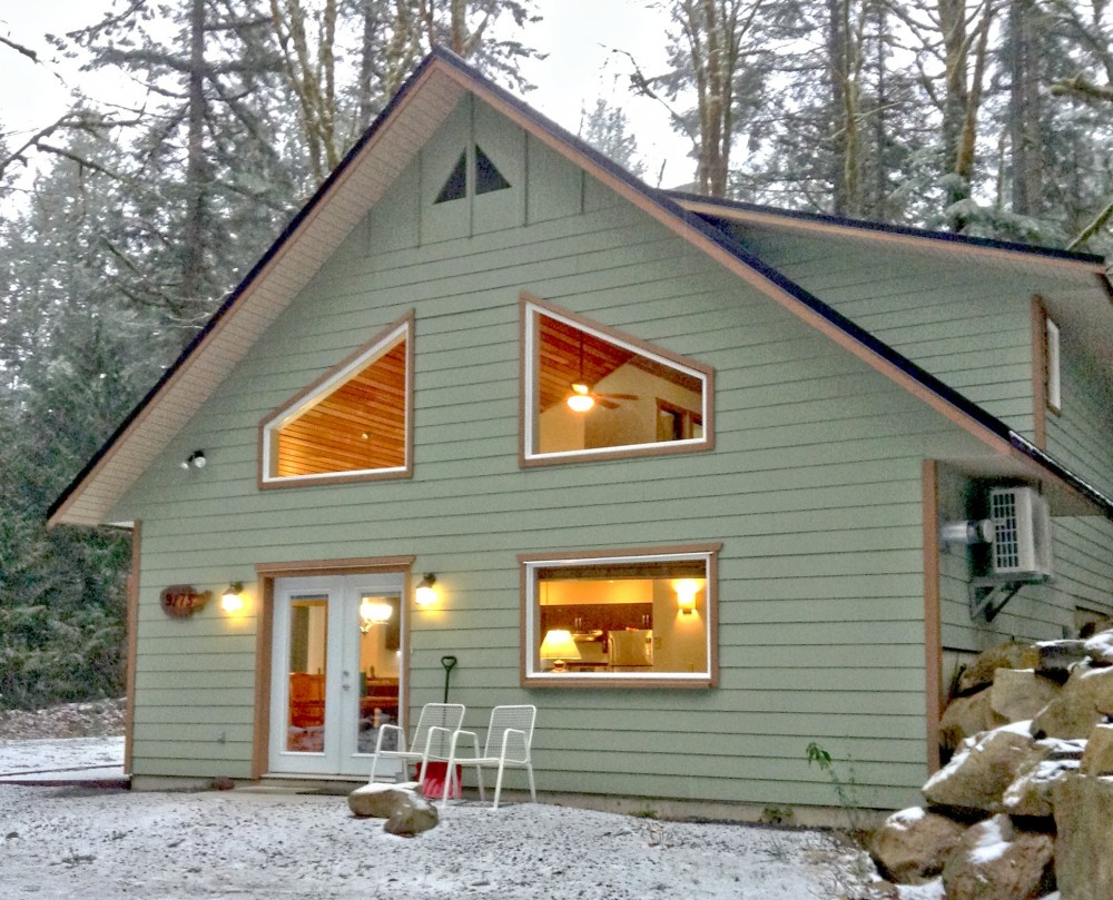 Glacier vacation rental with Front of this gorgeous home