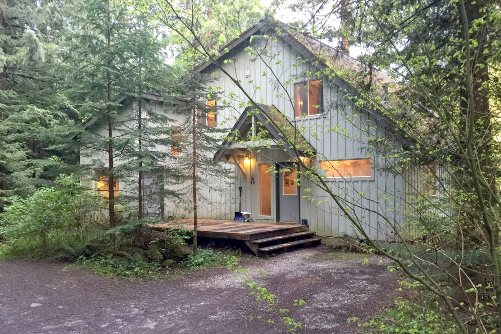 Glacier vacation rental with The front of the house