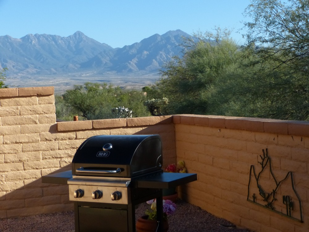 Green Valley vacation rental with Your back patio for peace, quiet and view as you use the new BBQ