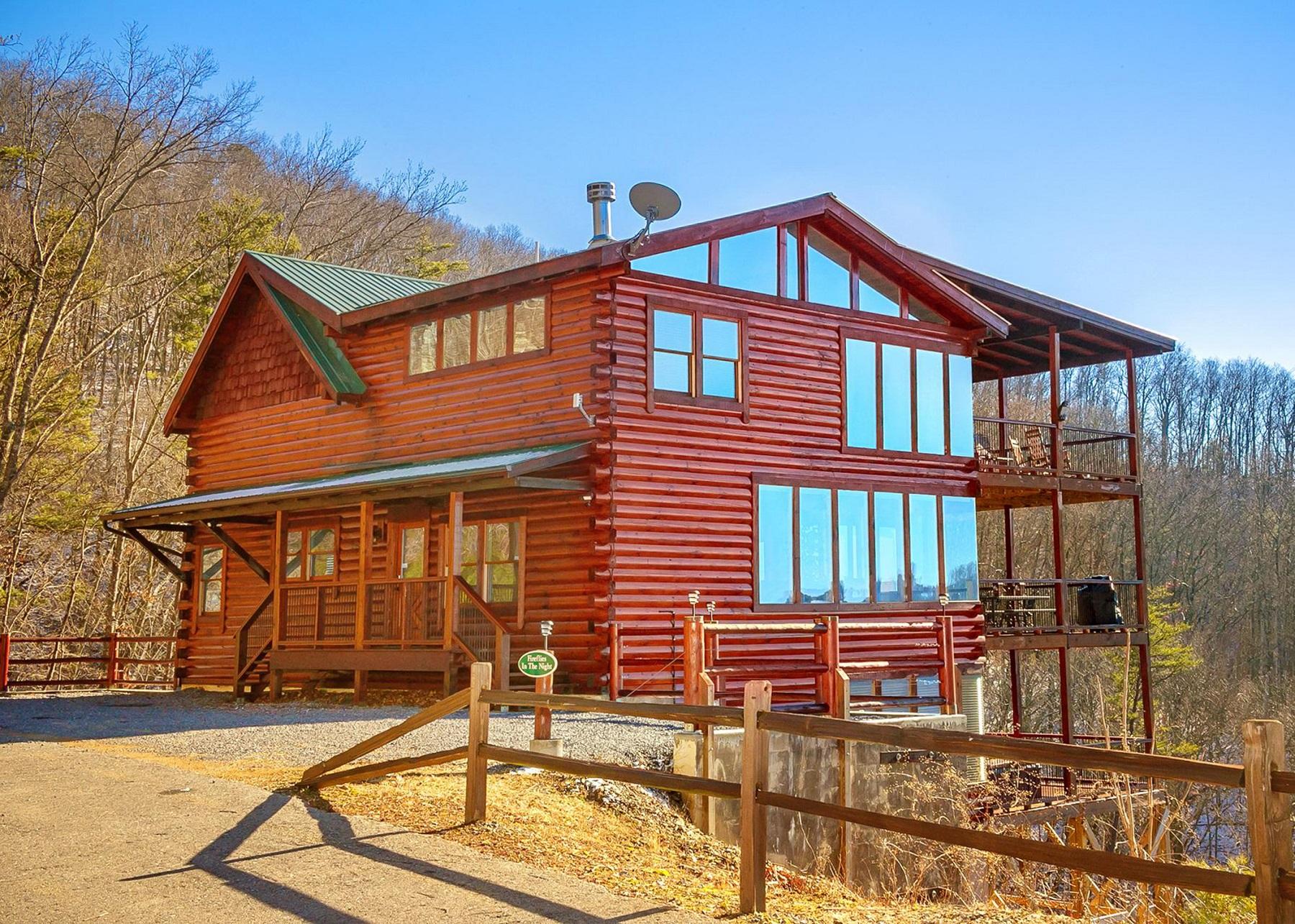 seven-bedroom, eight-and-a-half-bath cabin