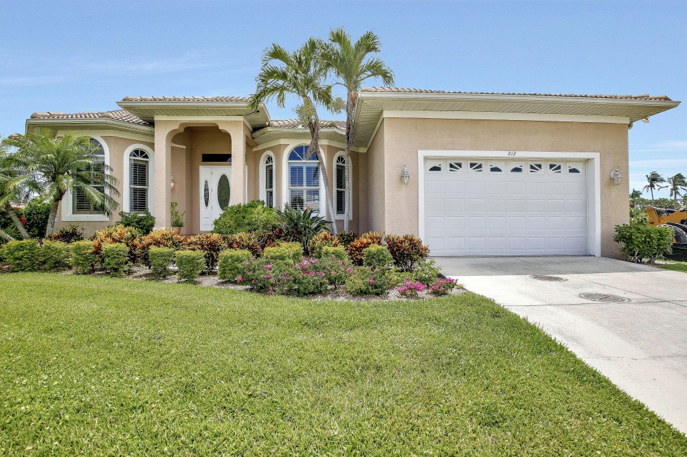 Marco Island vacation rental with Street view of this elegant and peaceful single family home