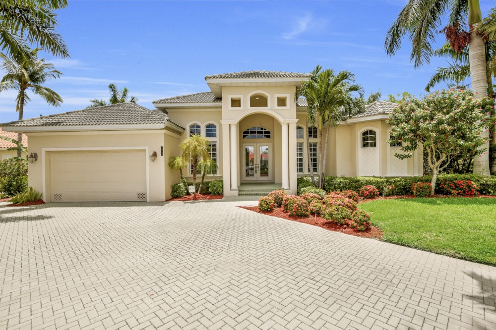 Marco Island vacation rental with Street view of this magnificent Marco Island home