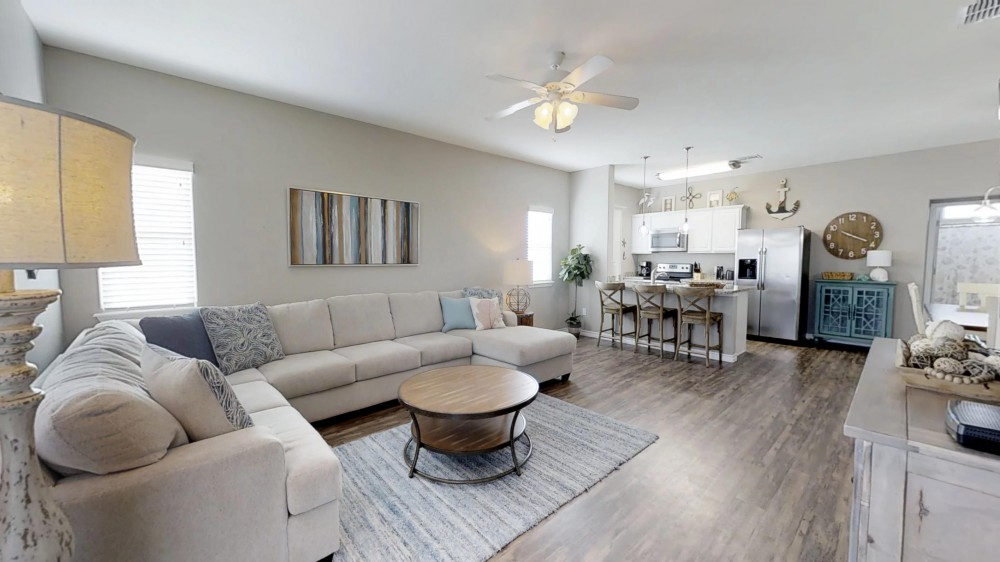 Corpus Christi vacation rental with Open Concept Living Space with access to Balcony on the 2nd Floor