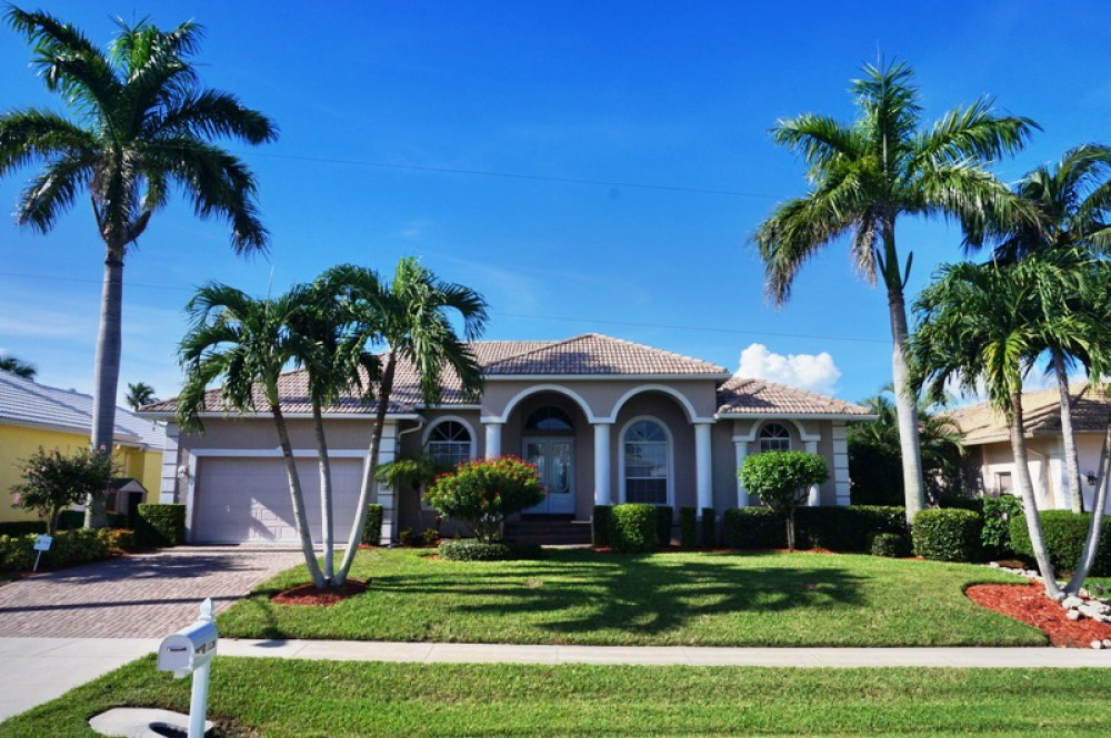Marco Island vacation rental with Beautiful home with incredible extended water view