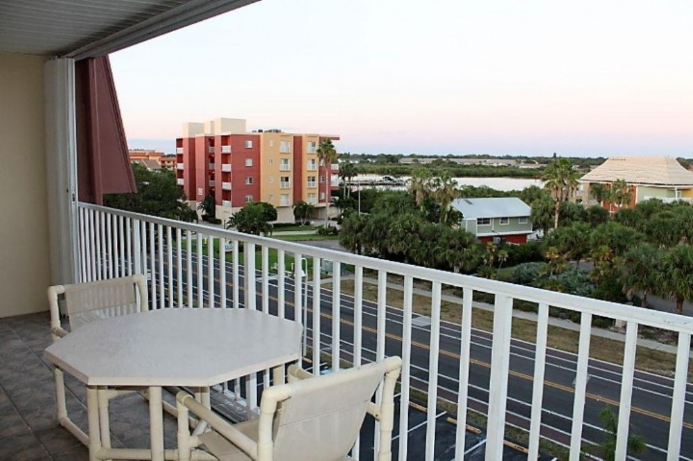Indian Shores vacation rental with intercoastal view balcony