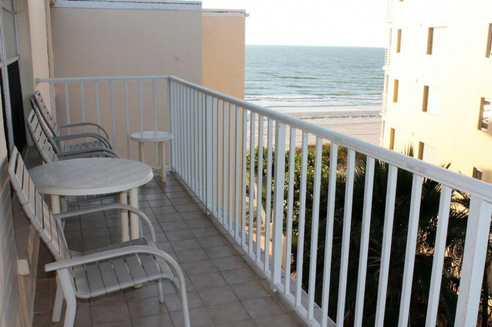 Indian Shores vacation rental with Corner Balcony View