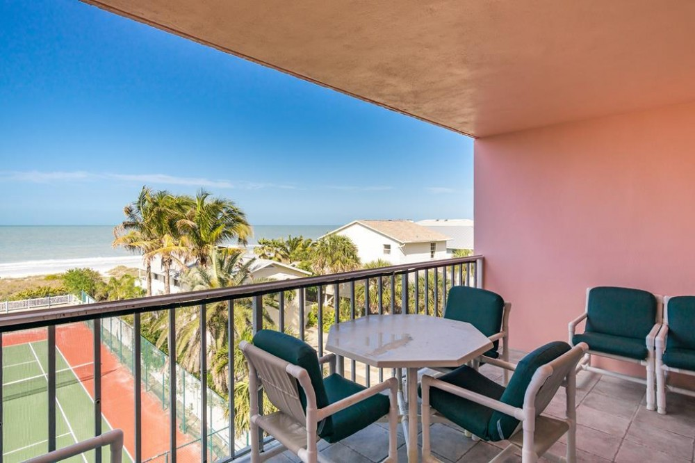 Indian Rocks Beach vacation rental with View from the private balcony