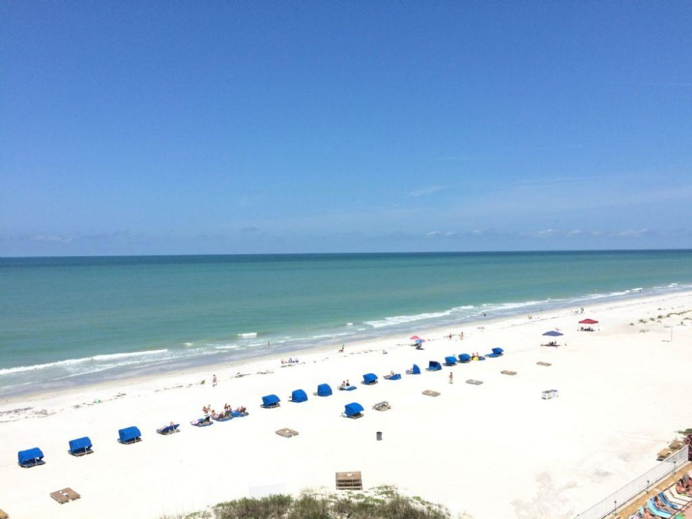 Indian Shoresw vacation rental with View from balcony