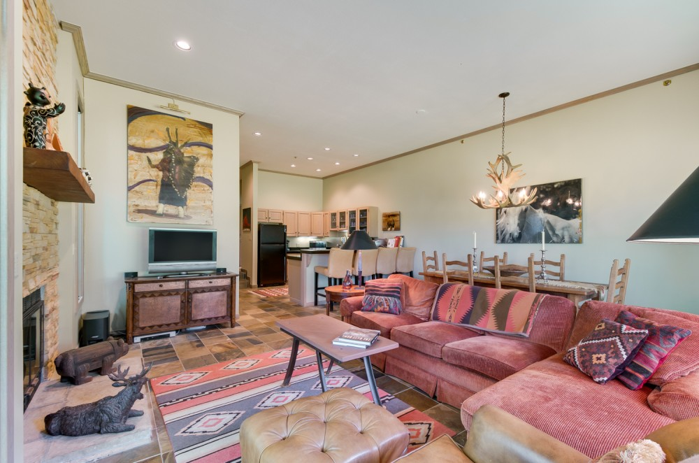 Telluride vacation rental with Living area to kitchen