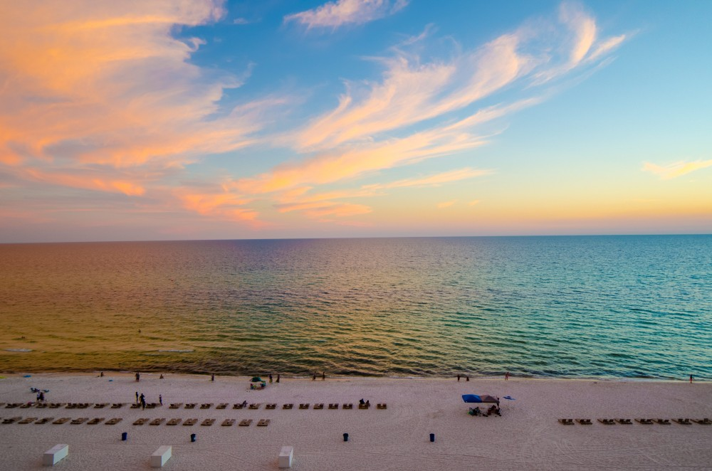 Panama City Beach vacation rental with The Balcony view is amazing  Sugar Sand and Emerald Waters as far as the eye can see  Fabulous sunsets every evening