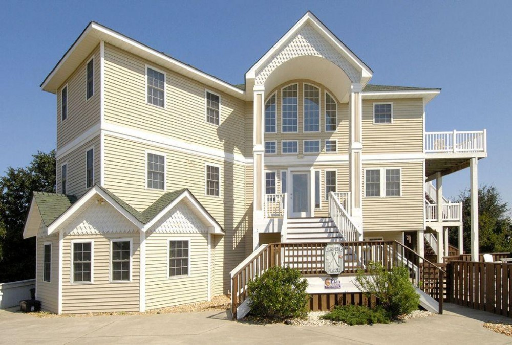 Corolla vacation rental with Front Elevation