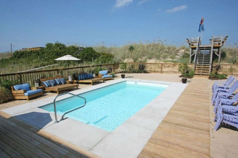Nags Head vacation rental with Shell Cottage Saltwater Pool