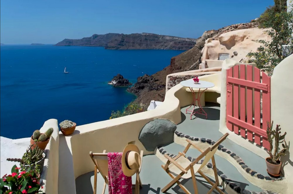 Oia vacation rental with