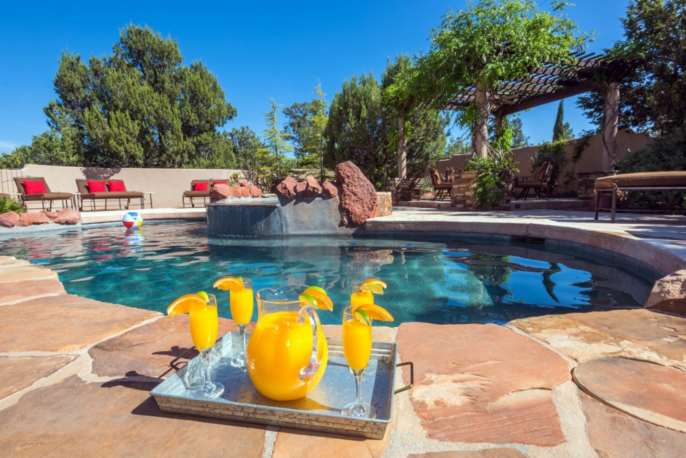 Sedona vacation rental with Your own private pool and spa