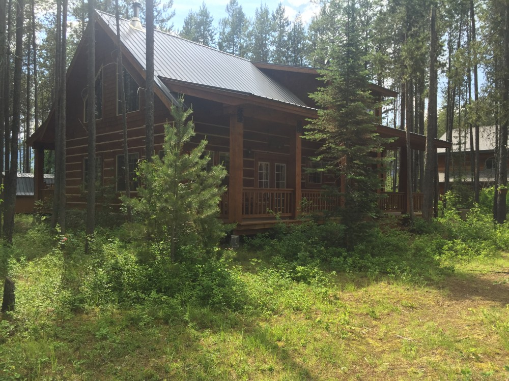 West Glacier vacation rental with Northfork Cabin facing the North Fork of the Flathead River