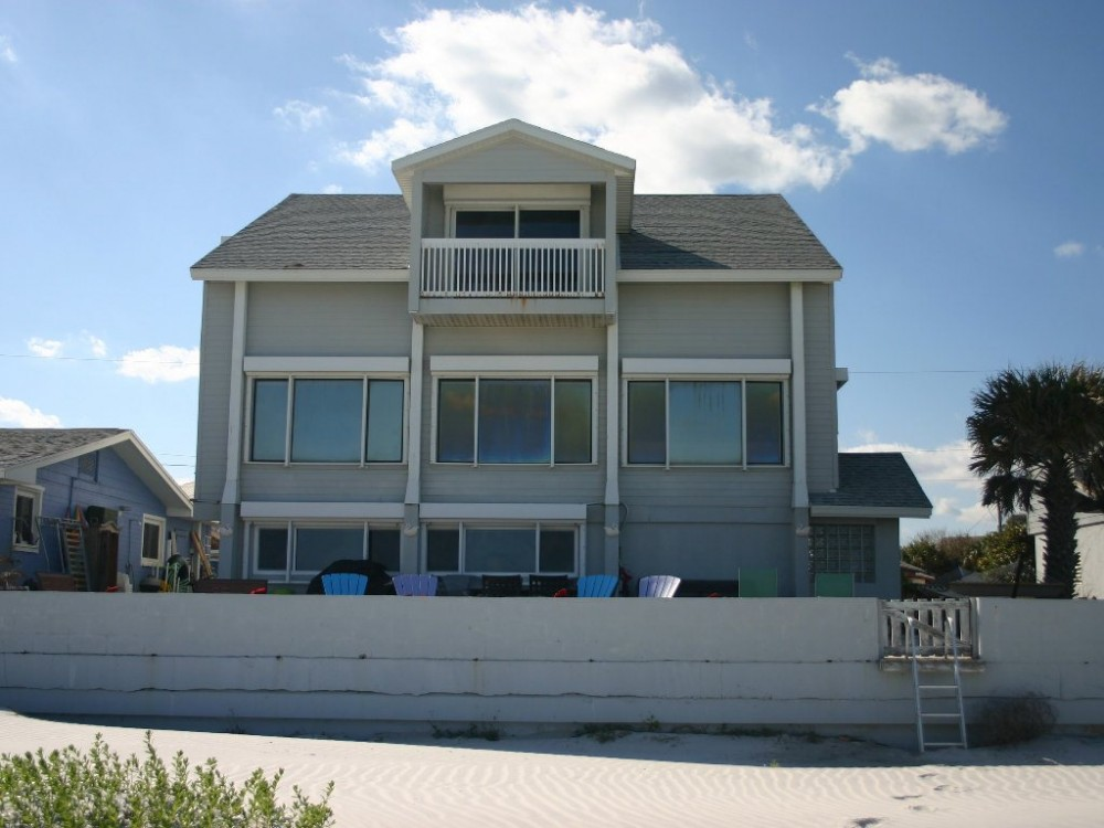 New Smyrna Beach vacation rental with Beautifully renovated  oceanfront 5 bedroom 4 bath beach home in prime location  Walking distance to Flagler Avenue featuring shopping  dining and night life