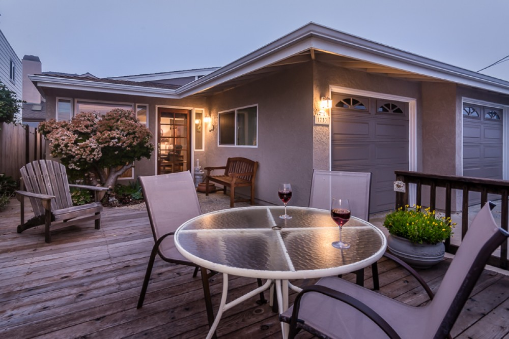 Cayucos vacation rental with patio