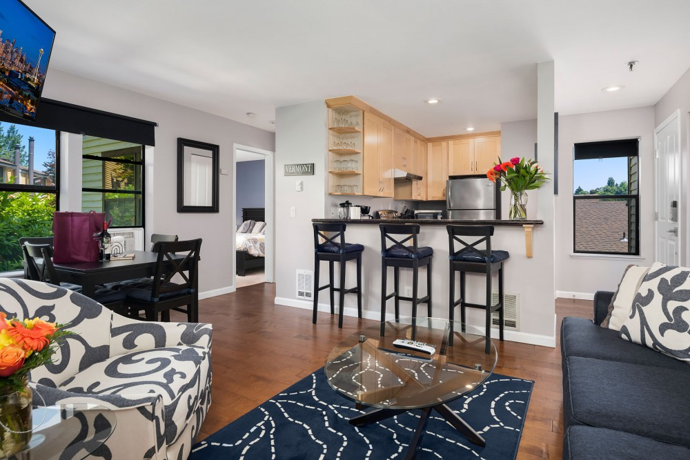Seattle vacation rental with The open-concept living area provides plenty of space for relaxing and socializing