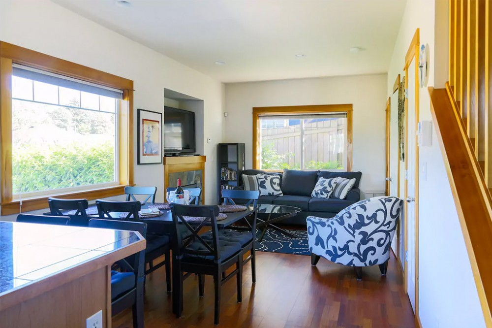 Seattle vacation rental with The open concept floorplan invites socializing  dining  and relaxing
