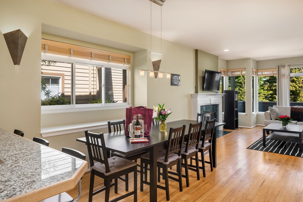 Seattle vacation rental with The spacious main floor offers plenty of space to gather with your group