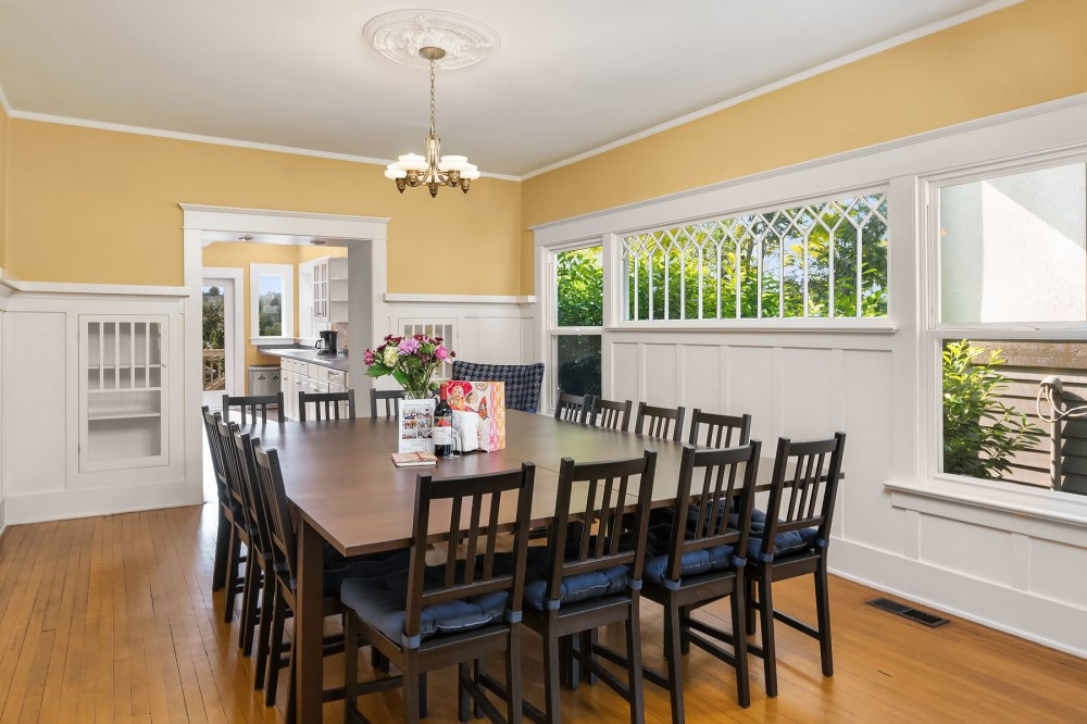 Seattle vacation rental with The large dining room table can seat a crowd