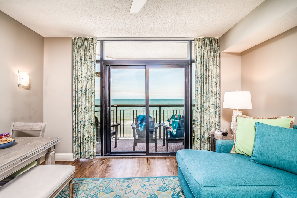Myrtle Beach vacation rental with Living Room with Access to Oceanfront Balcony
