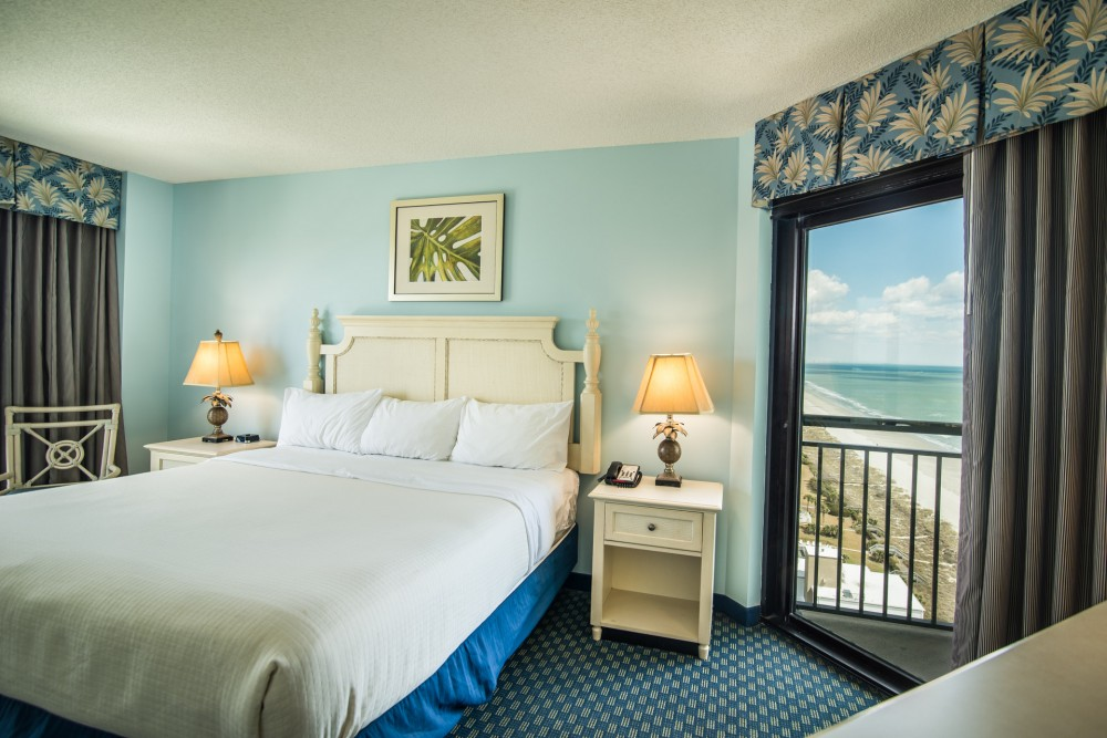 Myrtle Beach vacation rental with Master Bedroom w  King Bed and Great View