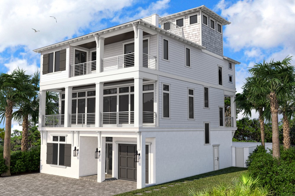 Destin vacation rental with Front Rendering