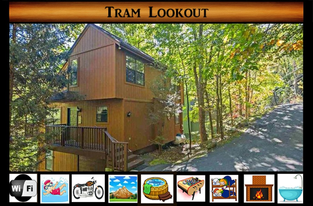 Gatlinburg vacation rental with Tram Lookout