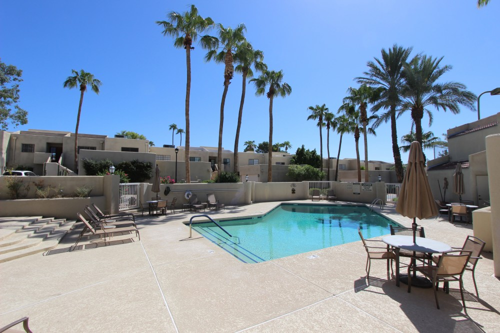 Phoenix vacation rental with Heated pool just a few feet away.