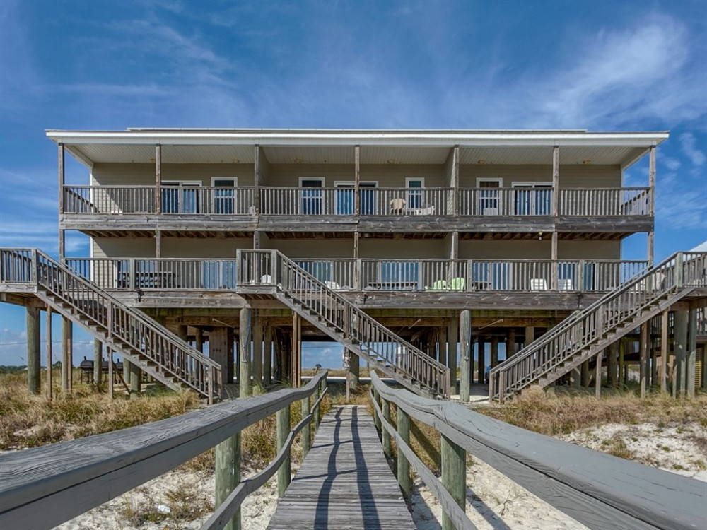 Pensacola vacation rental with Back side of Home 1 view 1