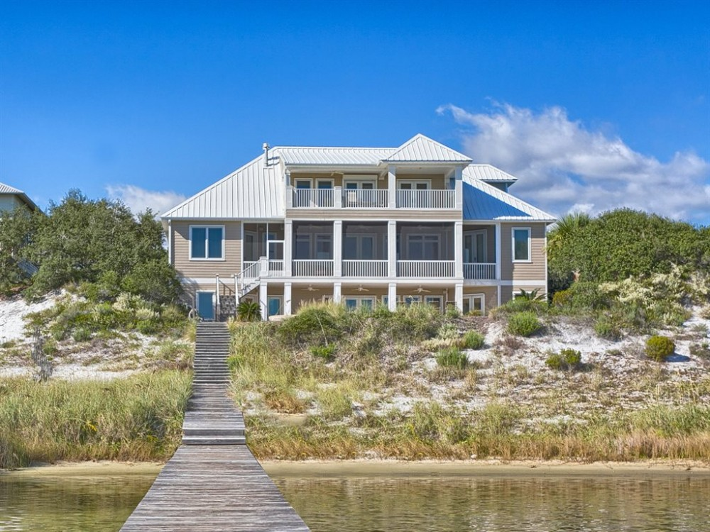 Orange Beach vacation rental with Back side of Home 1 view 2