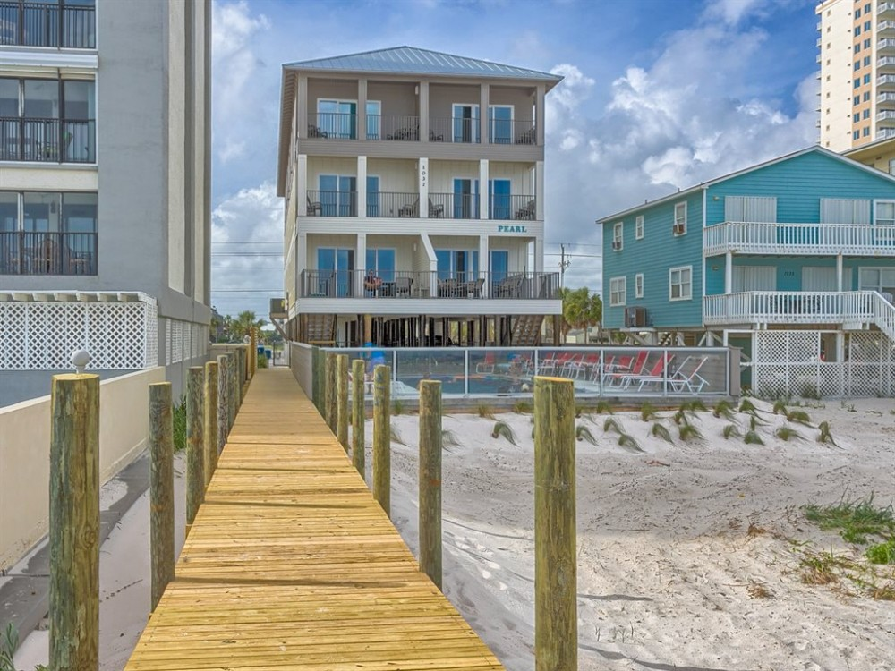 Gulf Shores vacation rental with Back side of Home 1 view 1