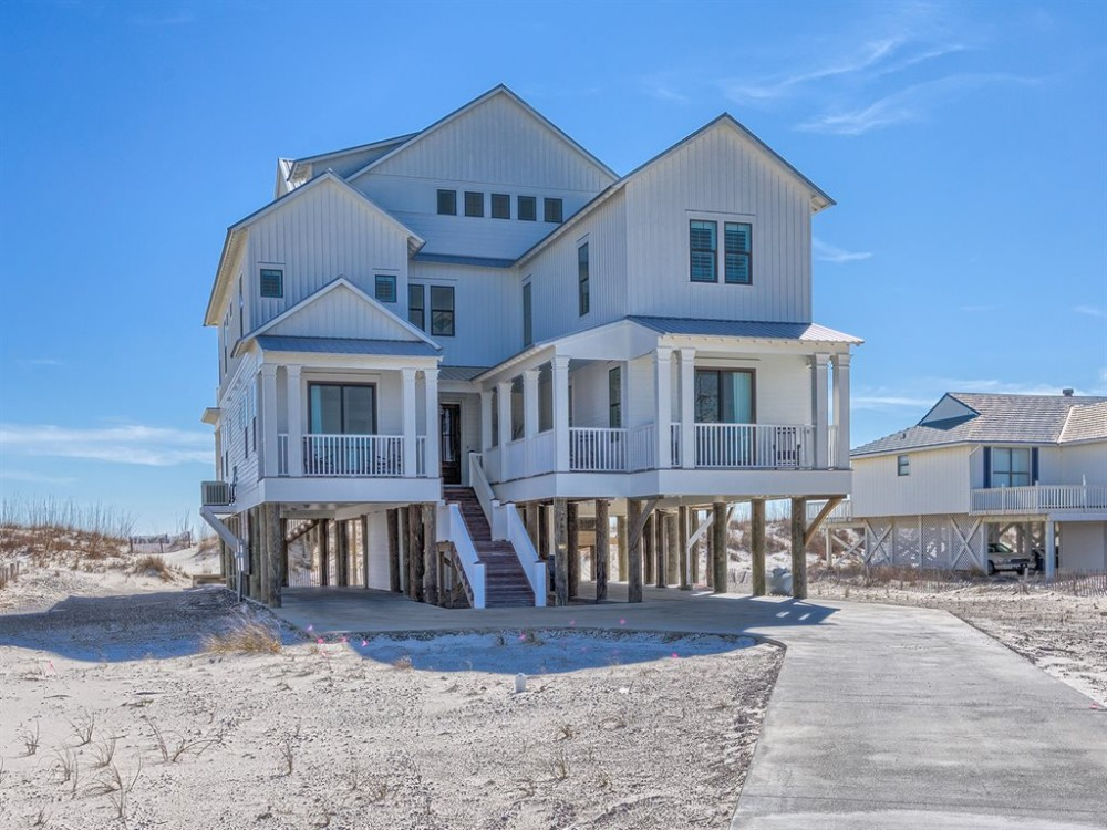 Gulf Shores vacation rental with Front side of Home view 1