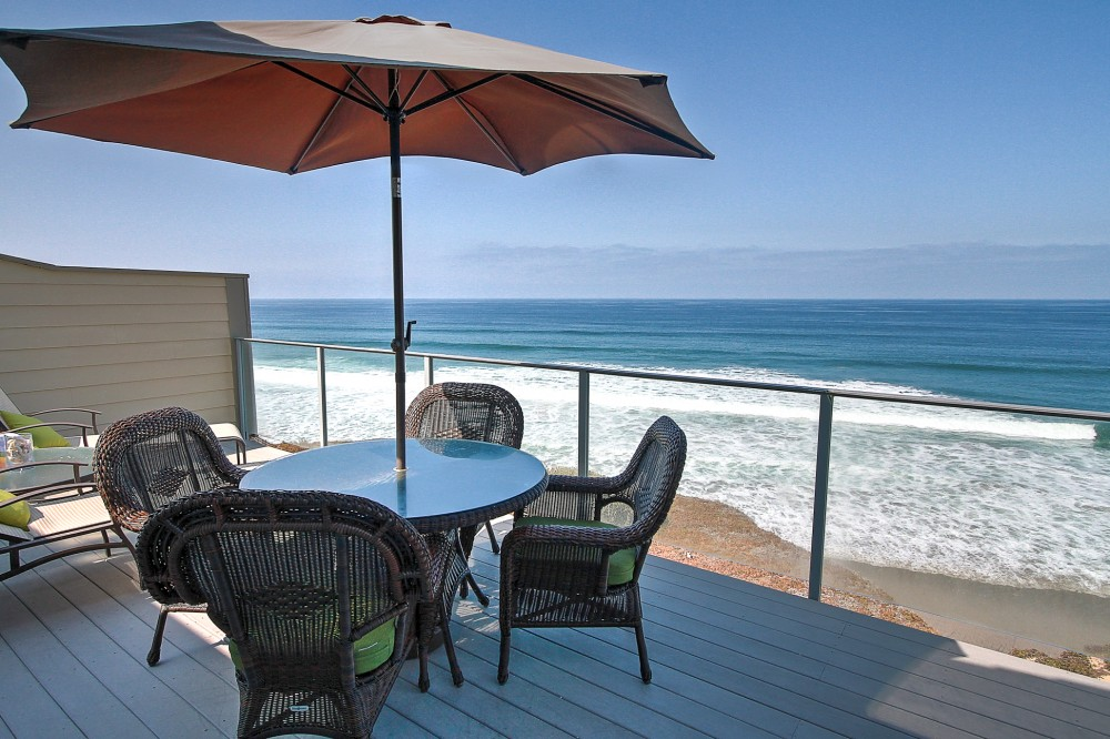 Encinitas vacation rental with Dine on Ocean Front Balcony