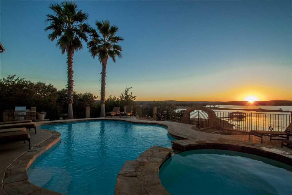 Lago Vista vacation rental with STAY HERE  WalkerVR LAKE TRAVIS LAKEFRONT  Amazing Lake Views  Pool and Hot Tub