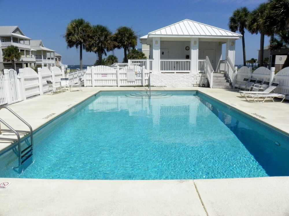 Pensacola Beach vacation rental with Outside of home freshly painted  Beautiful home in gated community