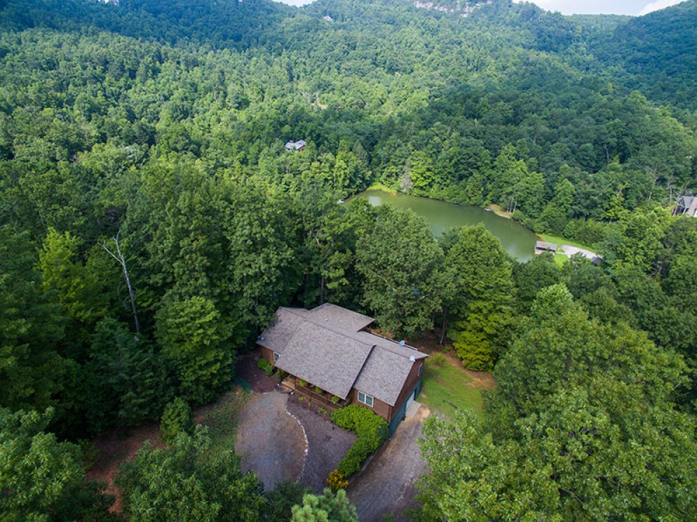 Old Fort vacation rental with AerialviewofHillsideLakeHouseandLakeGeorge