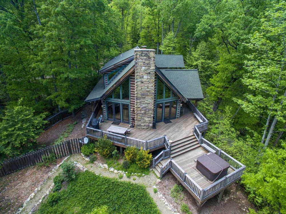 Black Mountain vacation rental with Woodhaven   Hot Tub   Fireplace   3BR Luxurious and Secluded Mountain Retreat