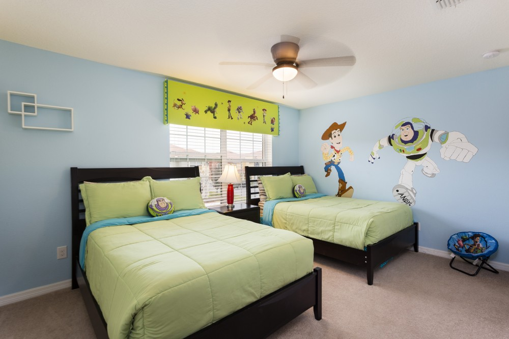Kissimmee vacation rental with Disney Story Townhome  at Paradise Palms sleeps 8