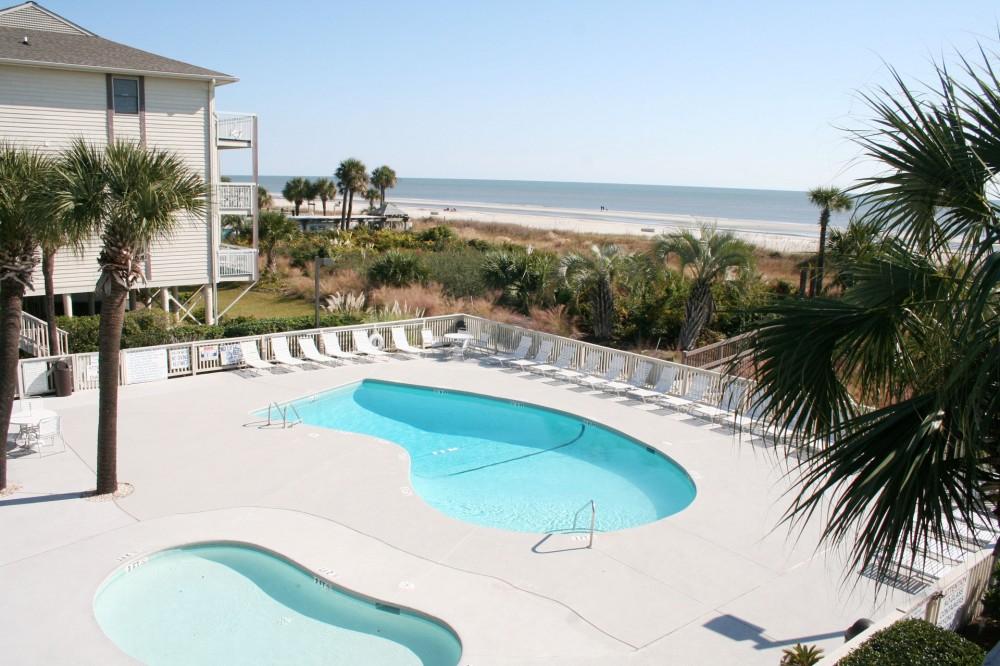Hilton Head Island vacation rental with OceanfrontPoolBabyPool
