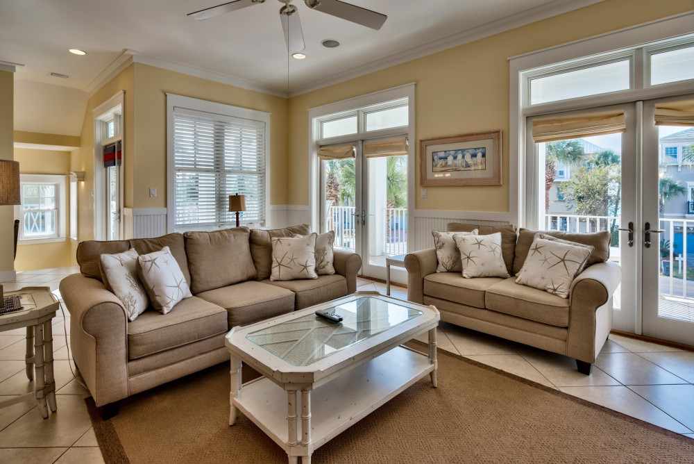 Destin vacation rental with SecondFloorLivingArea